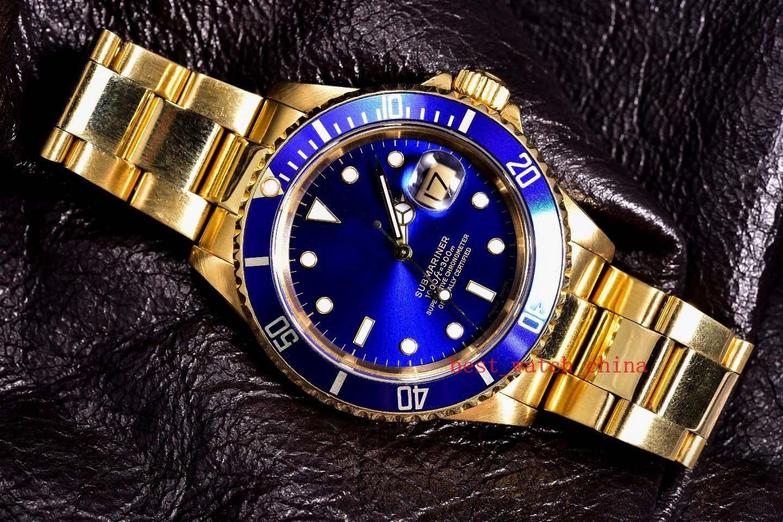 Азия 2813 роскошные высококачественные наручные часы 16618 40 мм золото автоматическая механическая складная пряжка 18 карат желтого золота-нержавеющая сталь мужчины