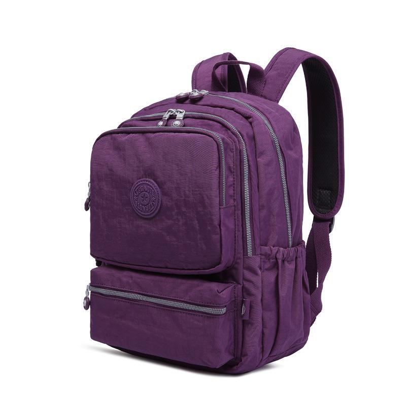 Cool2019 Travel Outdoors Backpack Light Waterproof Nylon Both Shoulders Package Small And Medium Student A Bag