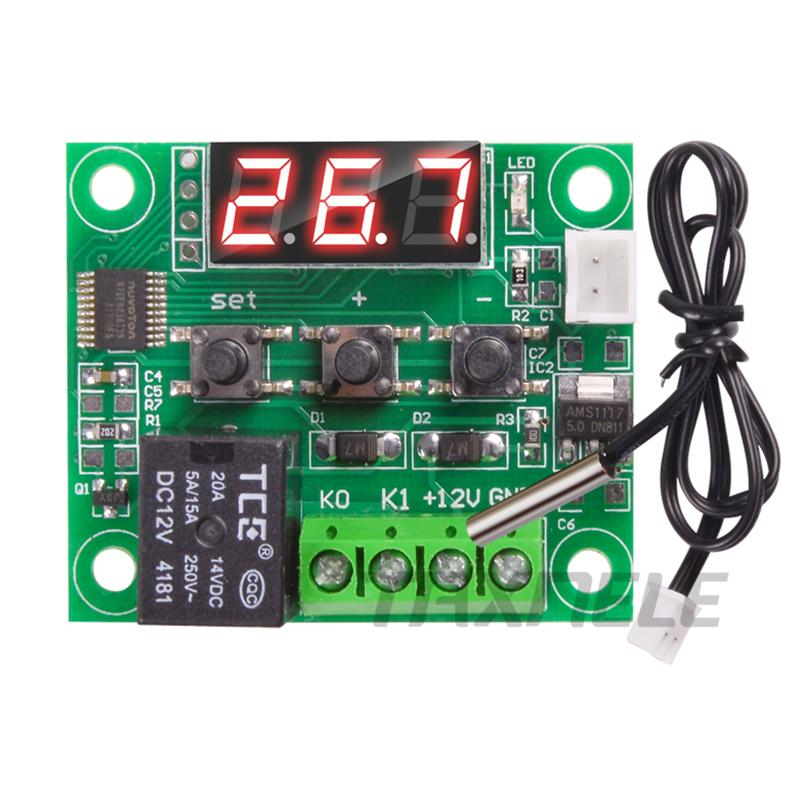 W1209 Digital Thermostat Module Temperature Control Switch Module+NTC Sensor