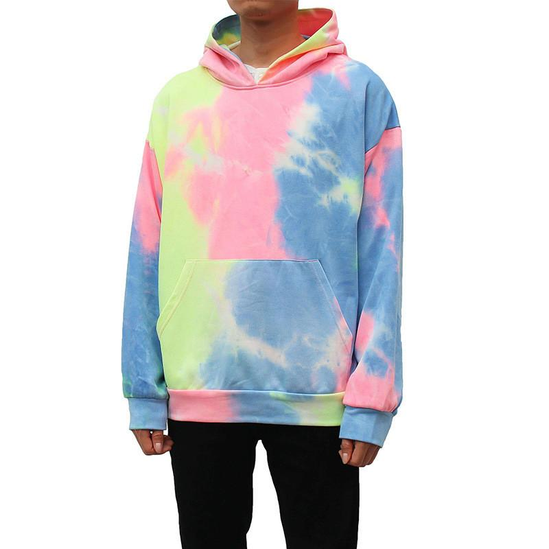 Bindung gefärbtes Mens Entwerferhoodies-Mode Hip Hop Teenager Designer Sweatshirts Frühlings-Herbst-beiläufige lange Hülsen-Männer Pullover
