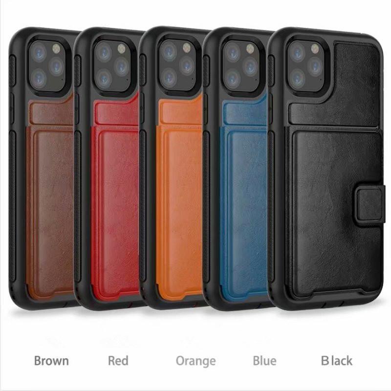 samsung s10 S10E note10pro note9 s9 s9plus Deri Telefon Kılıfı Üç Anti-mobil Cüzdan Kılıf Tutucu Kapak ile Kart Yuvası İçin