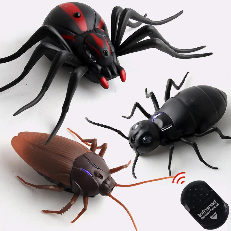 Infrared RC Remote Control Animal Toy Kit for Kids Adults Smart Cockroach Spider Ant Prank Jokes Radio Insect for Boys 1 Piece MX200414