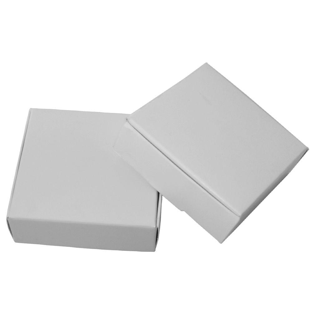 7*7*2cm White Paper Box Retail White Kraft Paper Packing Box Party Candy Gift Carton Packaging Cardboard Boxes 50pcs/lot