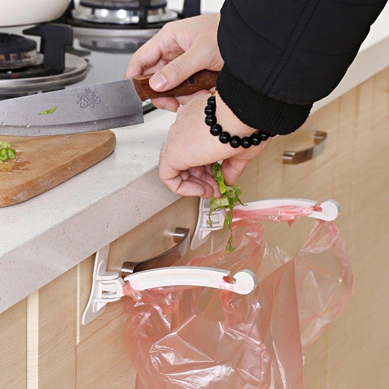 Haushalts-Küchenschrank-zertrümmernde Heckklappen-Stand-Speicher-Abfall-Taschen, die Haken hängen