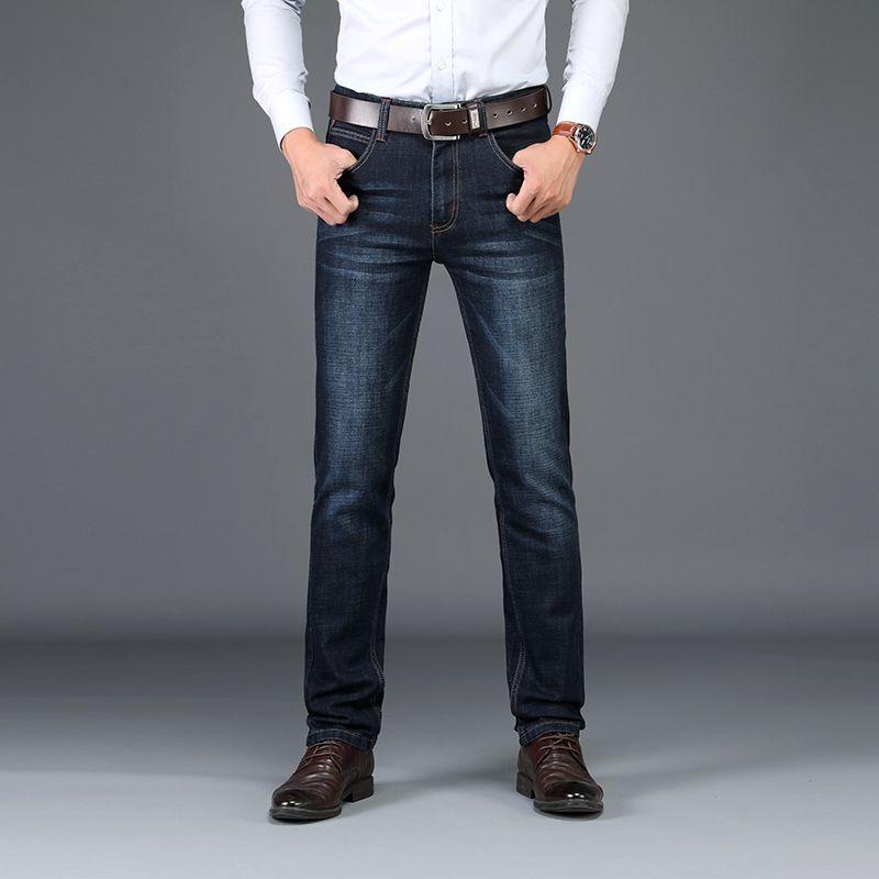 Jeans Midweight uomini d'affari di Brand Sulee Casual Slim Etero jeans stretch denim dei pantaloni Classic Cowboys Young Man