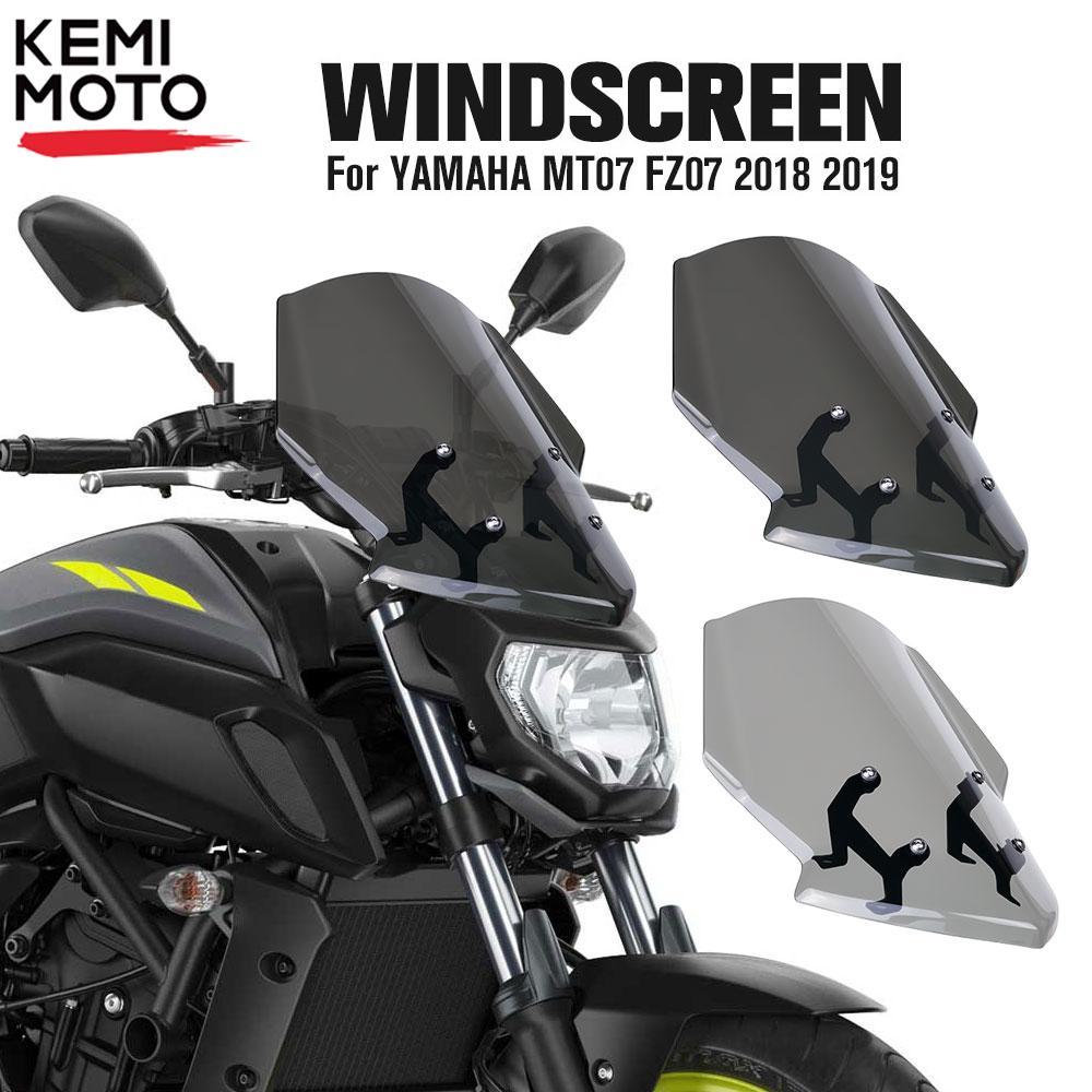 Compre Para Yamaha Mt07 Fz07 2018 2019 Parabrisas De Motocicleta Mt 07 Fz 07 Mt 07 Parabris Accesorios De Motocicleta Deflector De Viento A 33 21 Del W15016715542 Es Dhgate Com