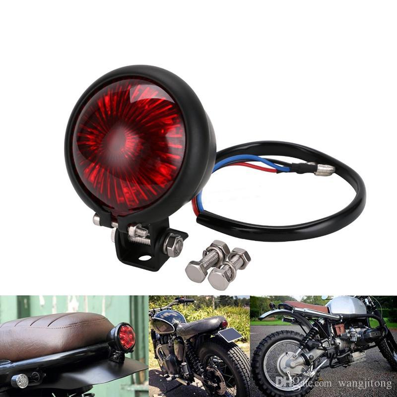 Red 12V LED justierbare Cafe Racer Art-Halt Rücklicht Motorräder Motorrad Bremsschlussleuchte Rückleuchte für Chopper