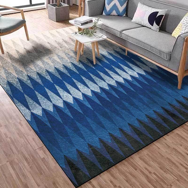 Nordic Minimaliste Petits tapis géométrique dégradé gris noir bleu Cuisine Salon Tapis Chambre chevet non-Slip Tapis