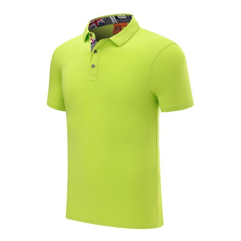 Yeni erkek ve kadınlar İngiliz rüzgar düz pamuk spandex pamuklu polo gömlek Meyve Yeşil Kısa kollu tişört SD-2chongfu-22