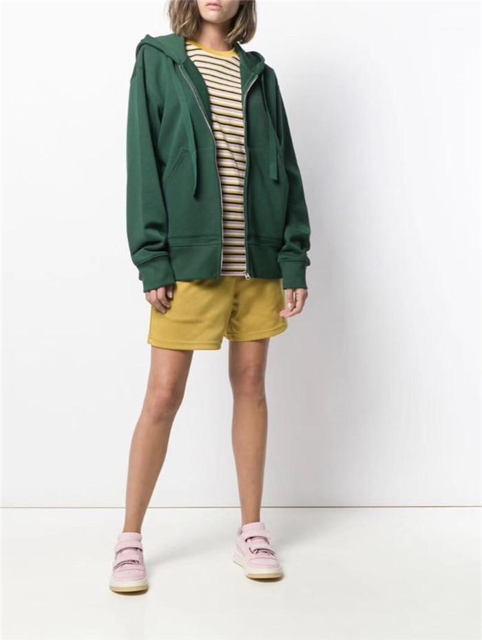 Womens Sports Hoodies Designer Sólido Verde com capuz manga comprida 2020 Primavera Feminino Roupa Moda Estilo Casual Vestuário