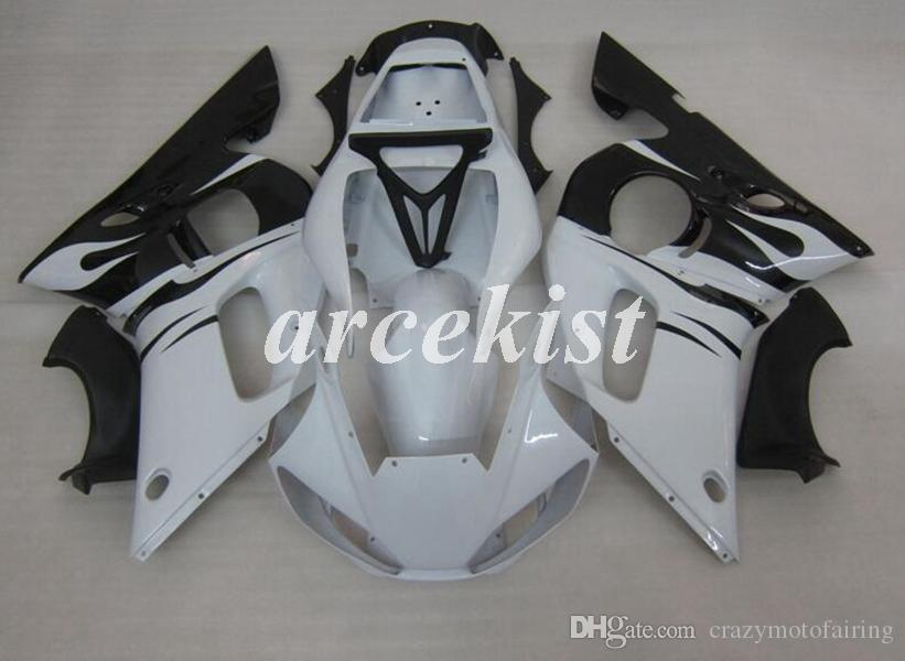 4 Gifts Motorcycle New ABS Full Fairings Kits Fit For YAMAHA YZF-R6 1998 1999 2000 2001 2002 R6 98 99 00 01 02 body set White Black Light