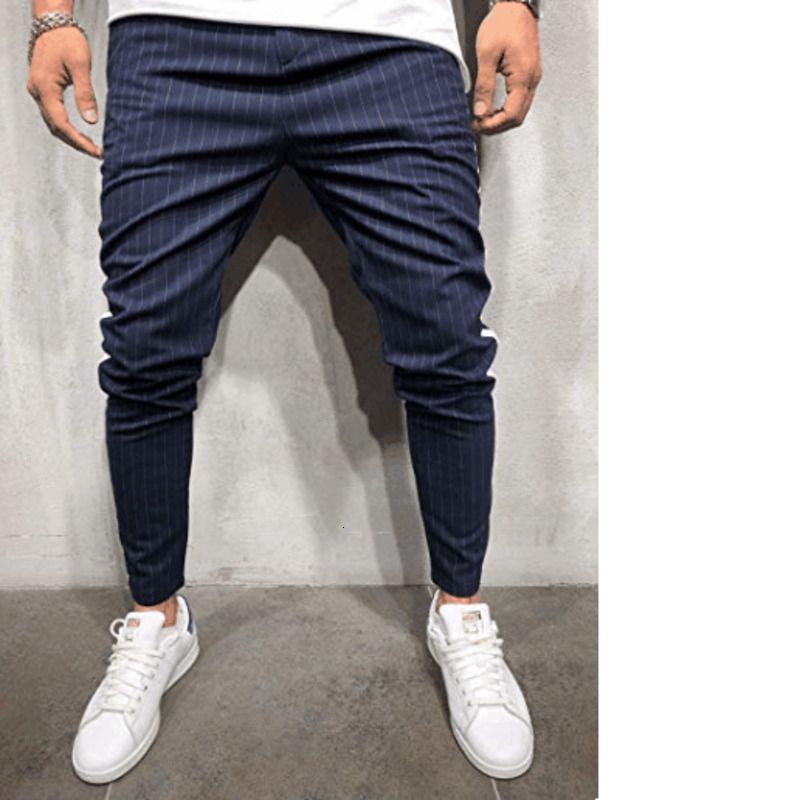 New Mens Harem Pants Fashion Striped Hip Hop Sweatpants Joggers Fashion Male Soldi Color Pocket Long Trousers Streetwear