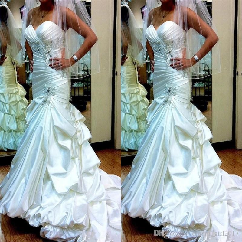 Bridal Dresses 2019 Taffeta Wedding Dresses For Women Sweetheart