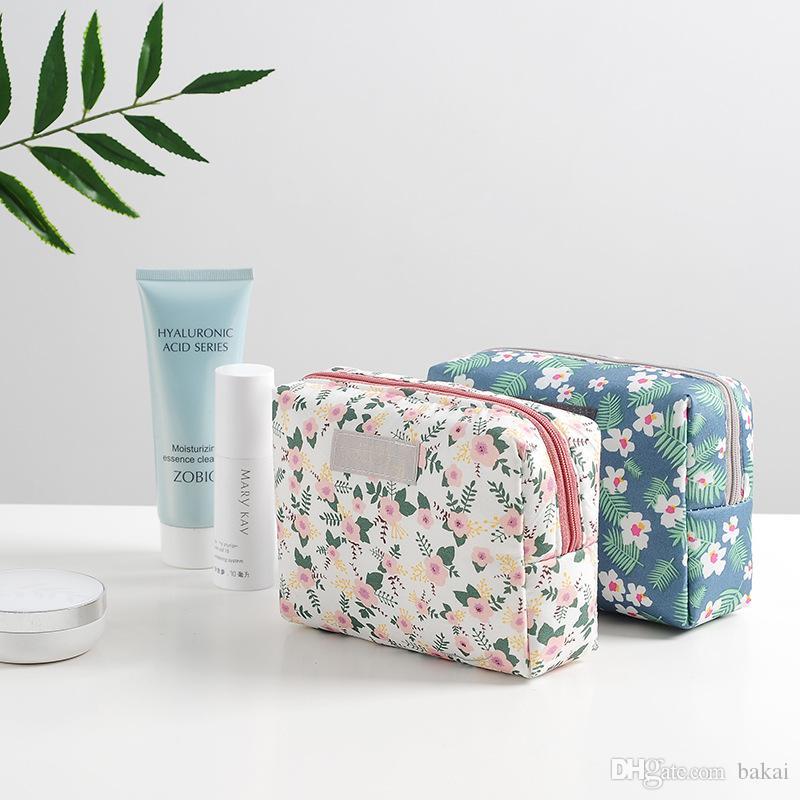 Mano portátil bolsa simple bolsa de almacenamiento pequeño almacenamiento gran capacidad maquillaje cosmético ahsok