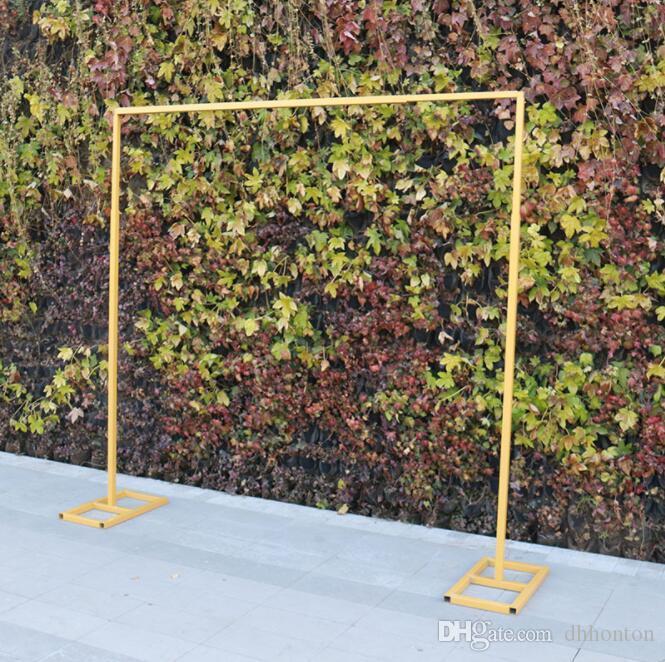 الزفاف خلفية الإطار الحديد المعادن 3 متر * 3 متر عرض الجرف في الهواء الطلق حجم يمكن تعديل زهرة حامل بالون حامل والستارة المسارات