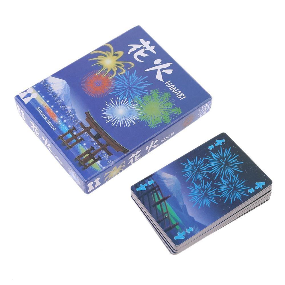 Junta Hanabi juego 2-5 jugadores Juegos de Cartas fácil de jugar juego divertido para el partido / Familia Padres e Hijos Juego