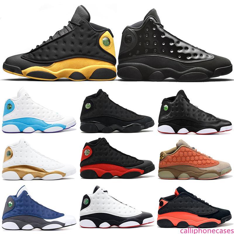 Atmosfera tampa cinzenta e Gow 13s tênis de basquete 13 homens Melo Ele obteve a jogo INFRA-Bred Terracotta Chicago Playoff Sports Sneakers 7-13