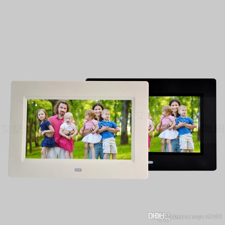 7inch Digital Photo Frames LED Backlight Álbum Eletrônico Picture Music Video Função Completa Bom Presente Bebê Casamento de Casamento7 Polegada