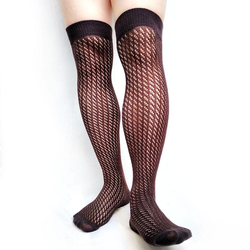 Over Knees Socks for Mens Cotton Fashion Stocking Long Sock Sexy Fetish Collection See Through High Quality Male Gay Hose Socks