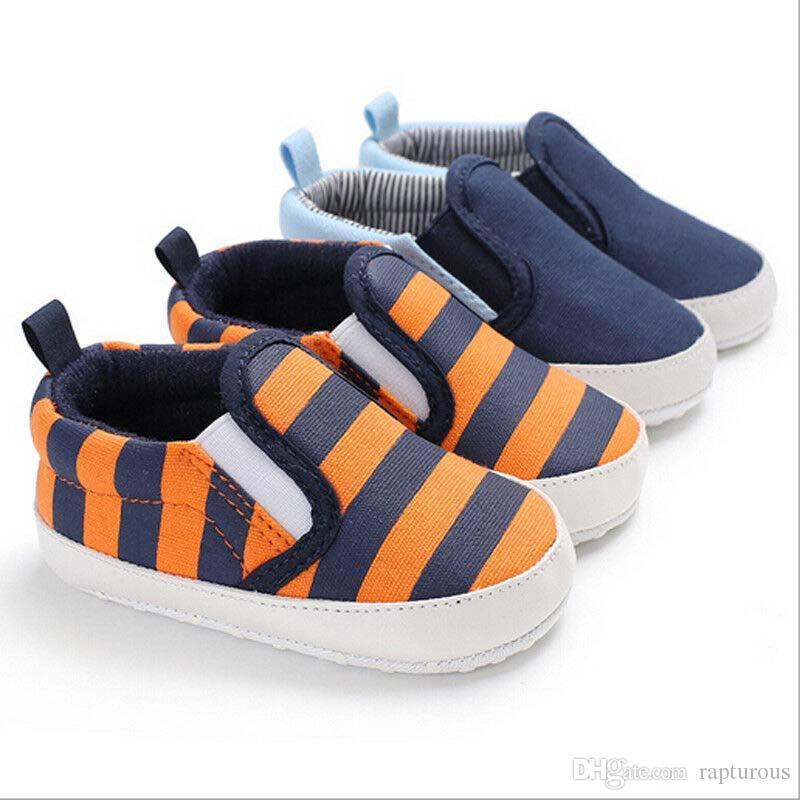 Infantili della ragazza del neonato morbida greppia scarpe carino Shoes Sneaker Newborn Prewalker righe patchwork Newborn 0-18M