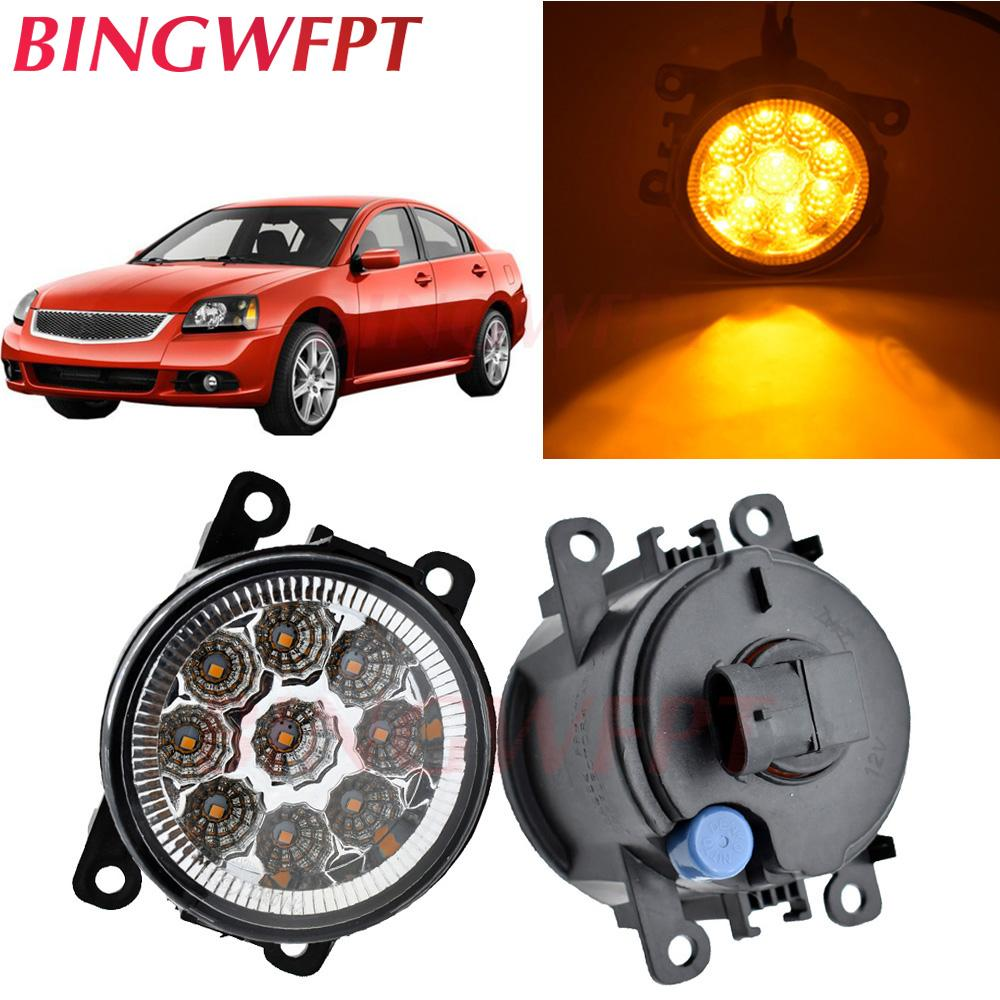 2pcs / lot Auto-Frontstoßstange LED-Nebelscheinwerfer für Mitsubishi Galant Limousine DJ_ ED _ EF_ Saloon 2003-2007 Halogenlampen