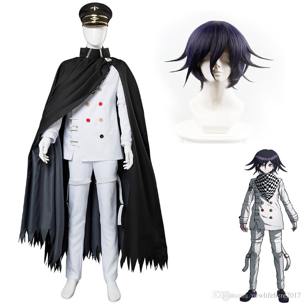 Danganronpa V3 Uccidere Harmony Ouma Kokichi costume cosplay Abbigliamento Accessori Parrucche di alta qualità