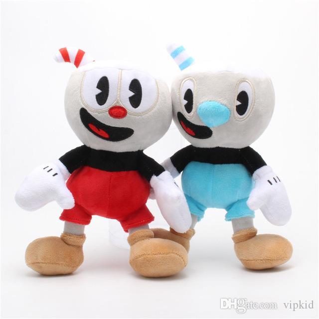 25CM Cuphead felpa de videojuegos Mugman jefe del Diablo regalos legendario relleno suave muñecas juguetes para los niños de cumpleaños de Navidad C2
