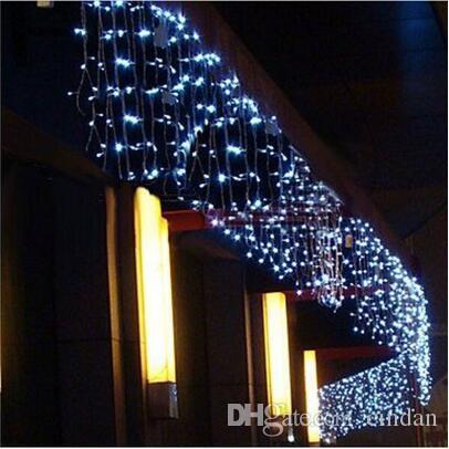 5M 크리스마스 LED 커튼 고드름 문자열 빛 LED 파티 가든 무대 실외 방수 장식 요정 빛을 0.4-0.6m 처짐