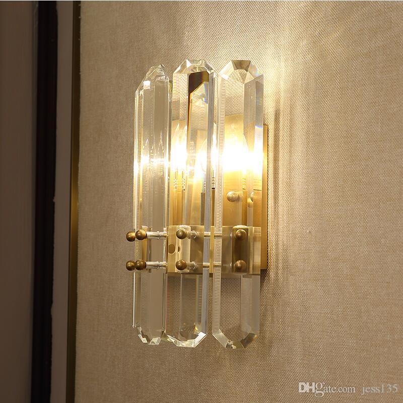 Creativo luce camera da letto villa fashion design lampada da parete art cristallo