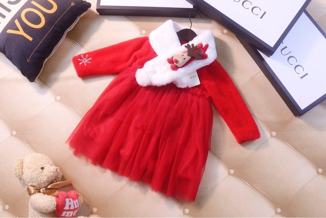 Las niñas se visten otoño e invierno nueva moda casual chicas costura niños falda de malla ropa WSJ001 # 121915 W04