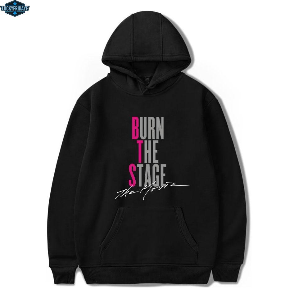 Sweats à capuche K-pop Hip Hop Sweat à capuche BTS manches longues Noir Hoodies d'hiver Vêtements pour hommes