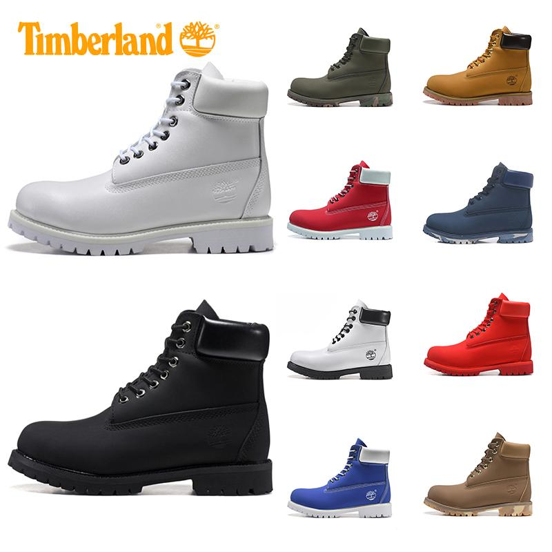 2020 Timberland Boots For Men Women Designer Boot Military Blue Chestnut Triple Black White Mens Trainer Hiking Outdoor Shoes Sneaker Size 36 45 From