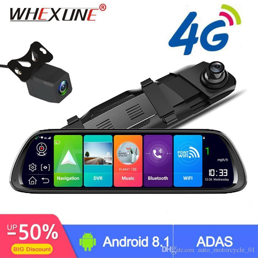"WHEXUNE 4G الروبوت سيارة DVR 10 ""تيار مرآة الرؤية الخلفية FHD 1080P أداس داش كاميرا كاميرا فيديو ومسجلات السيارات المسجل Dashcam GPS"