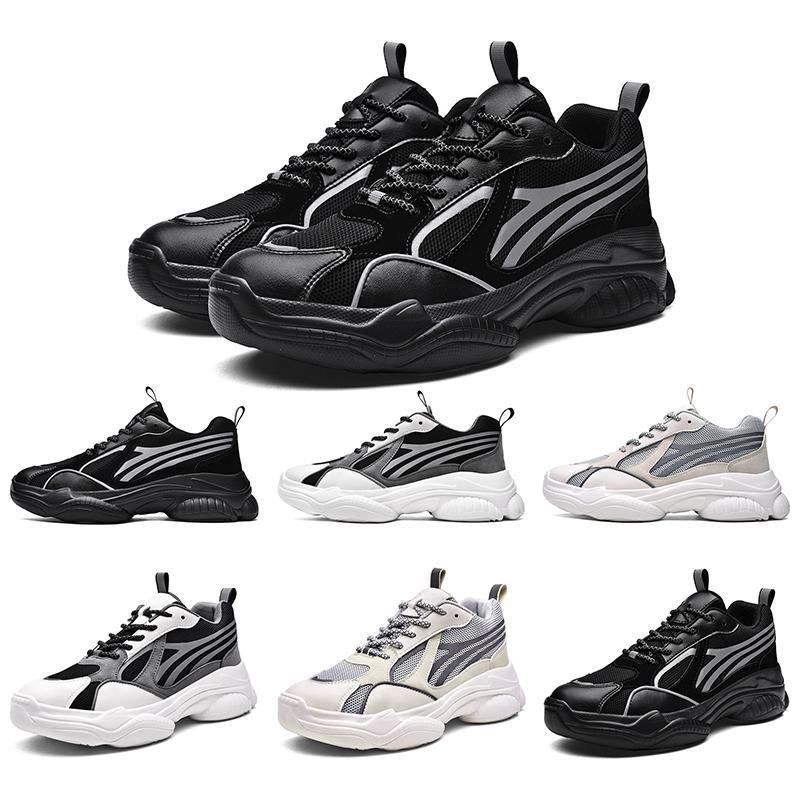 3M Yansıtıcı Üçlü Siyah Beyaz Gri spor eğitmenleri tasarımcı ayakkabı Ev yapımı marka Çin Malı koşu ayakkabıları Tasarımcı kadın erkek