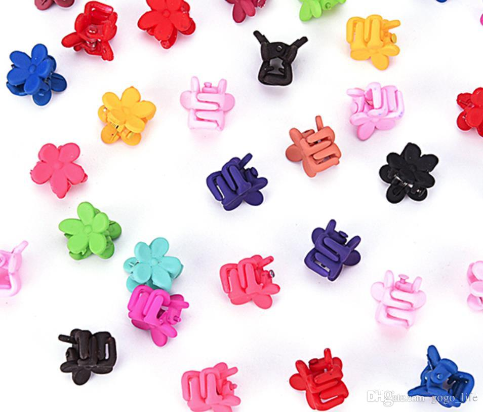 10pcs/30pcs Bag Candy Color Small Plastic Hair Clips Claws Mini Clamps Fashion Girls Crab Hair Claw Gifts