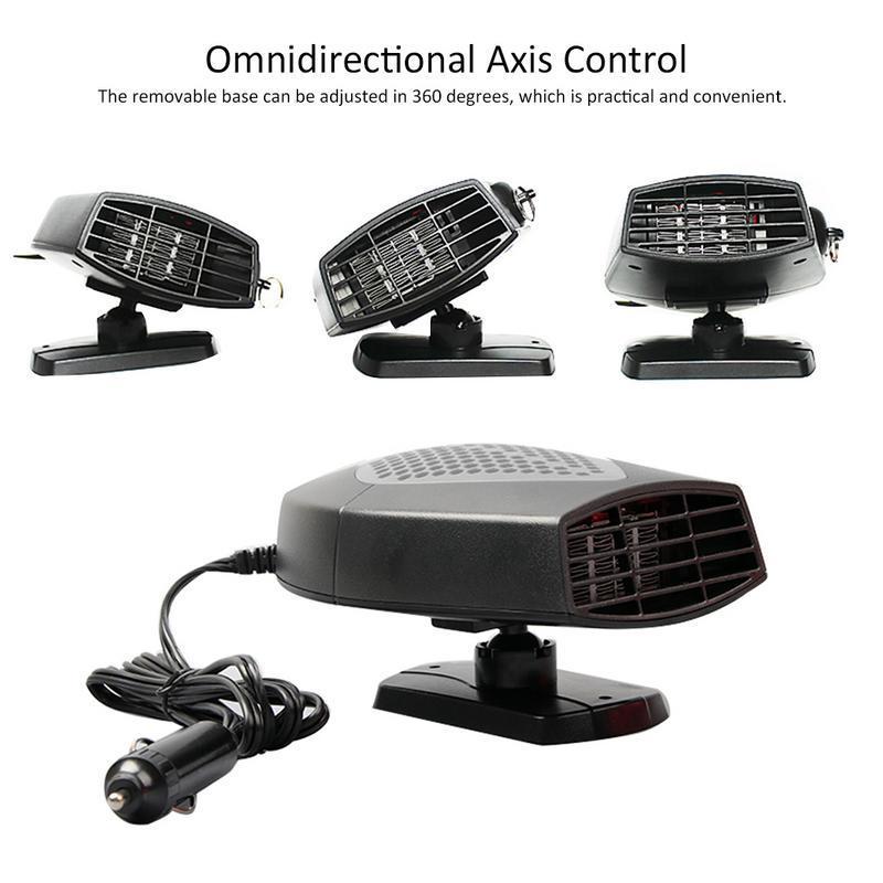 Portable 12v Aéroconvecteur voiture automobile chauffage plus chaud et le dégivreur pour facile Déneigement Accessoires voiture
