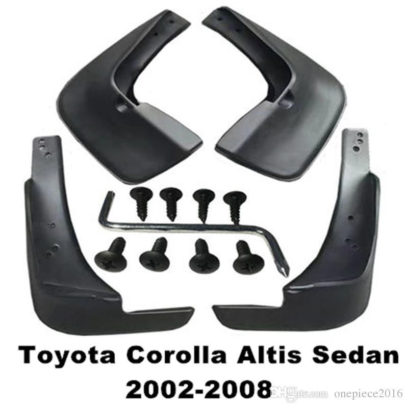 4pcs / set viaturas mudflaps respingo Guardas da aleta da lama lamas Fender Para Toyota Corolla Altis Sedan 2002 2004 2003 2005 2006 2007 2008