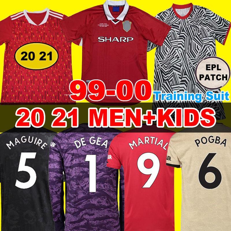 Hayranları / Oyuncu Soccer Jersey FC Manchester United Futbol Forması 19 20 POGBA LINGARD RASHFORD Maguire Adam çocuklar Kadınlar 2019 2020 Futbol Gömlek UTD Üniforma Kiti