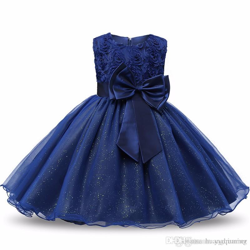 2018 Toddler Girl Dress For Wedding Baptism Baby Girl Frocks 1 Year Birthday Outfits Baby Girl Christening Gown Kid Party Wear Bebek Costume