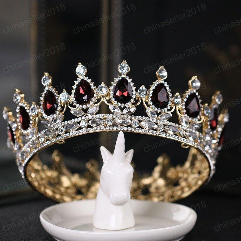 Argent / Or Couleur strass alliage d'onde Diadèmes Crystal Crown bijoux de mariée cheveux Pageant femmes Mariage Accessoires de cheveux