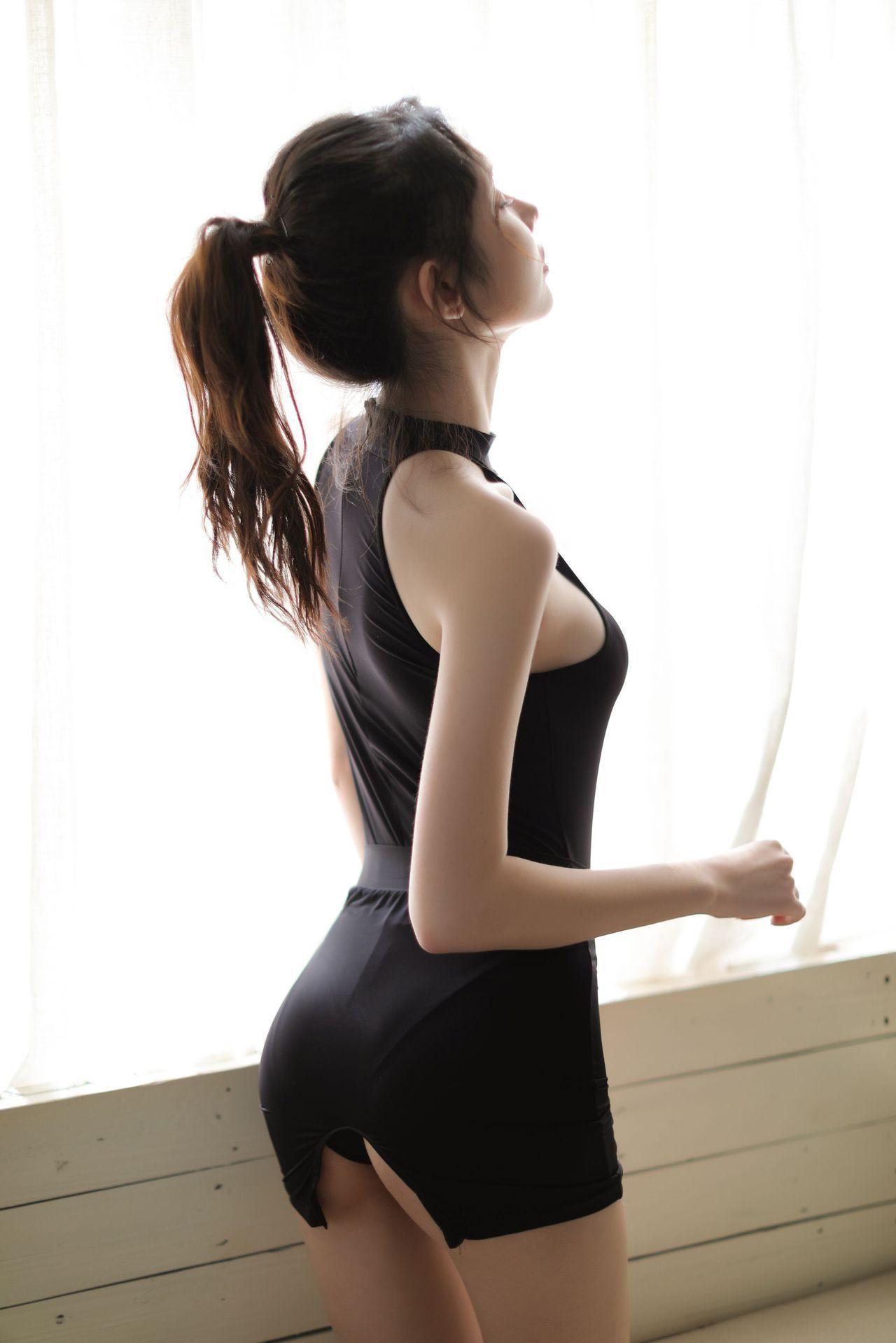 PgjhJ Shi ropa interior atractiva meiza brillante elástica leche de seda seda de la leche mono miniskirtminiskirt Minifalda-campo abierto Secretario equipar 9069