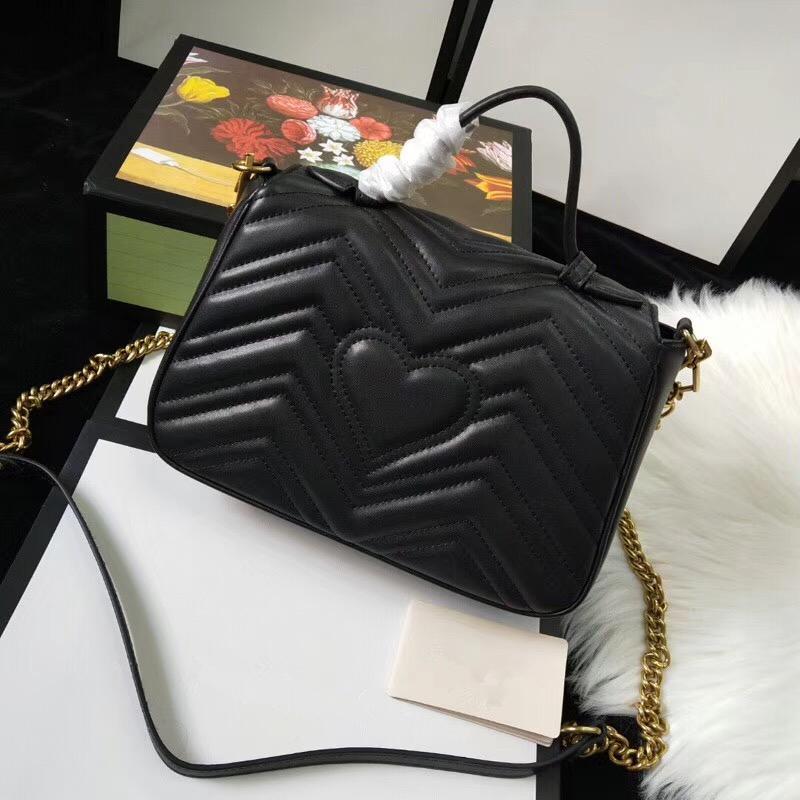 patrón de onda de la moda caliente de la venta de las mujeres del bolso de hombro El Amor manija del bolso del corazón de la cadena de la aleta de Crossbody del bolso de alta calidad femeninos bolsas de mensajero
