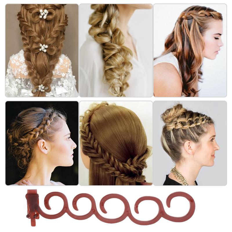 Grampos de cabelo para as mulheres Elegância Trança de cabelo Presilhas de flores Mágica Flor Grampo de cabelo para mulheres Estilista de presente para Girlfr
