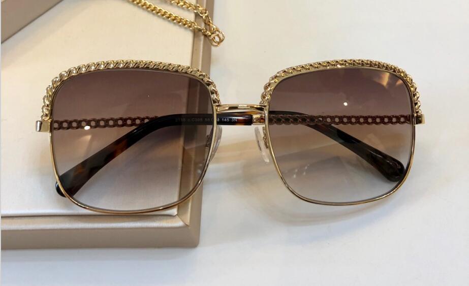 Le nuove donne di modo occhiali da sole uomini CH21851 occhiali da sole semplice e uomini generosi vetri di sole all'aperto occhiali di protezione UV400 con il caso