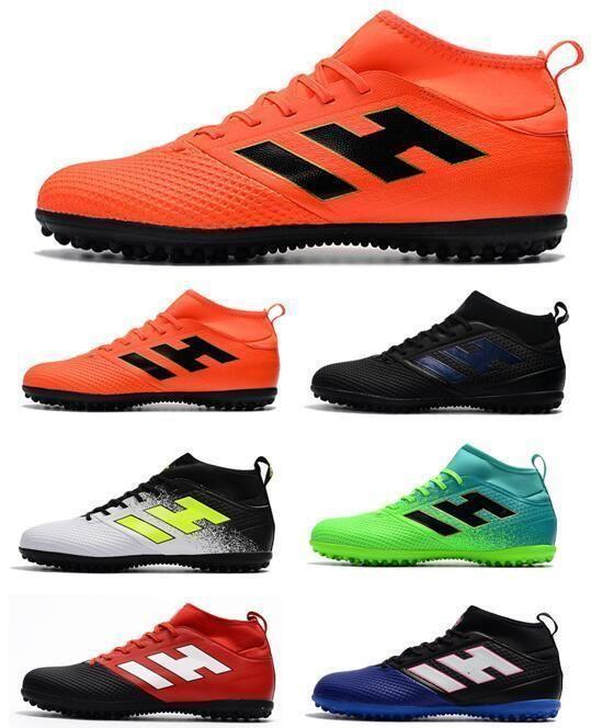 Nouveau Top ACE 17,3 Primemesh TF Green Manic Hommes de football Bottes de haute qualité Chaussures de football Crampons ACE TF Chaussures Hommes Football