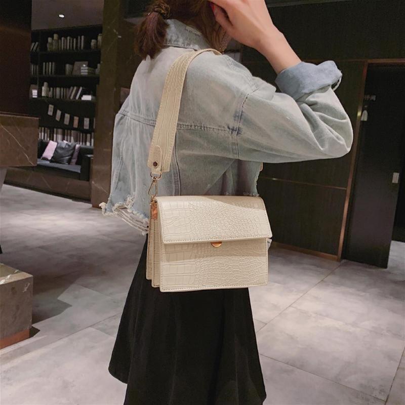 das mulheres bolsa 2020 Moda de Nova alta qualidade PU Mulheres Bolsas de crocodilo padrão Messenger Bag Ombro