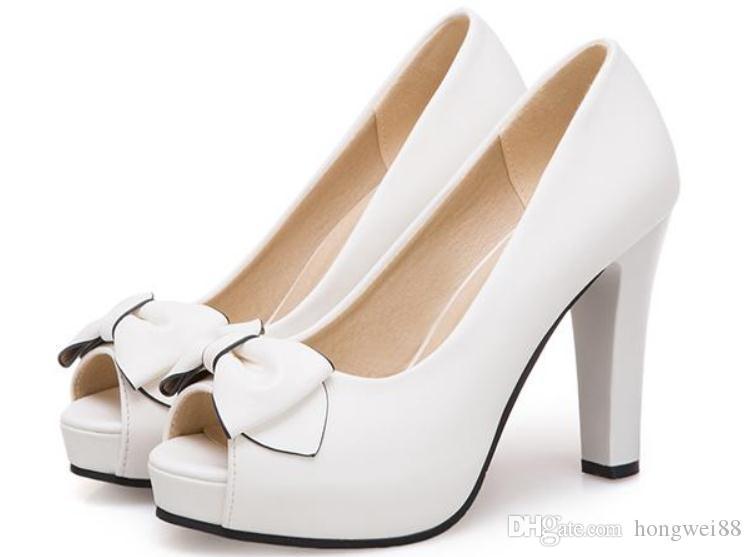 2019 ilmek Kadın Sandalet Yaz ile Yeni stil Yüksek topuk Kaba topuk @ 20