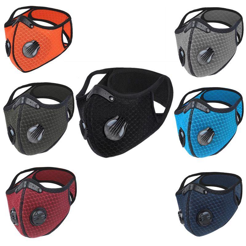 Bisiklet Yüz toz geçirmez Spor Binme Filtreli Kapak Karşıtı Kirlilik Açık Eğitim Maskesi Koşu Karbon Bisiklet Aktif Maskesi
