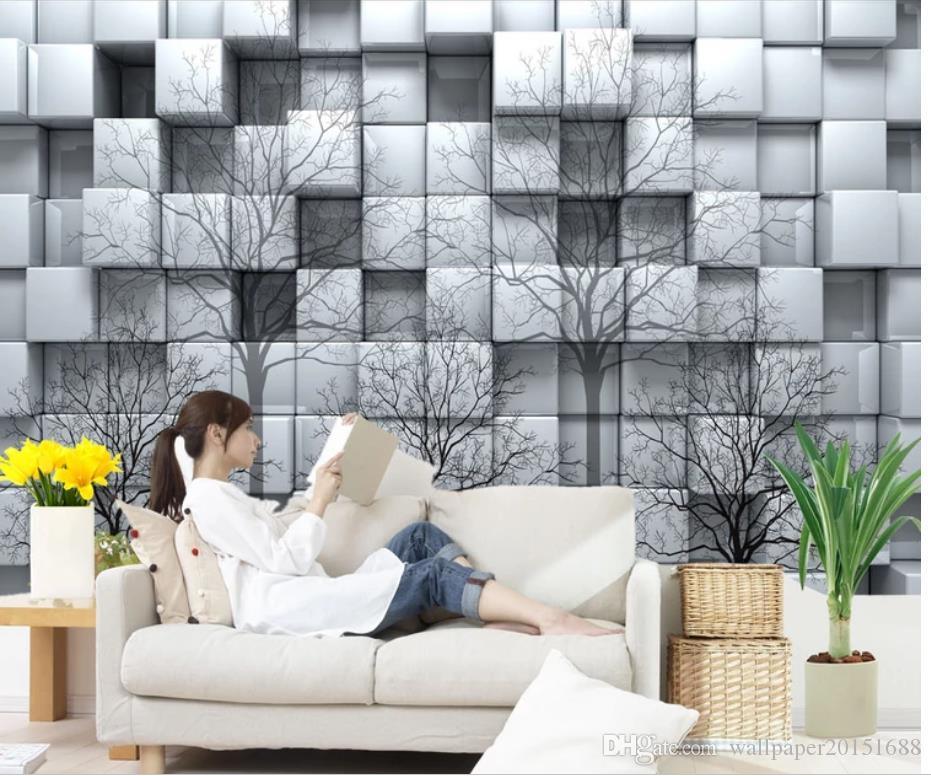 Modern Wallpaper For Living Room Woods 3d Square Mural 3d Wallpaper 3d Wall Papers For Tv Backdrop Widescreen Computer Wallpaper Backgrounds For