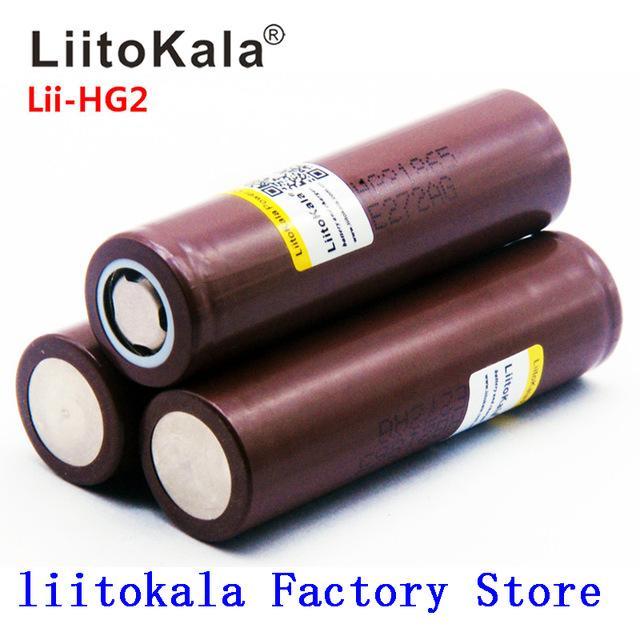 Consumer Electronics 2020 NOVO LiitoKala HG2 18650 3000mAh baterias recarregáveis de alta potência alta, atual grande 30A